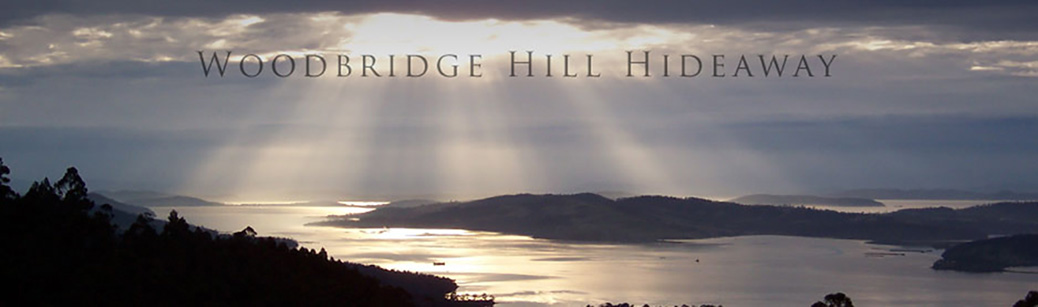 image of sunrise view from Woddbridge Hill Hideaway